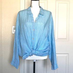 J. Jill Linen Button Down Shirt